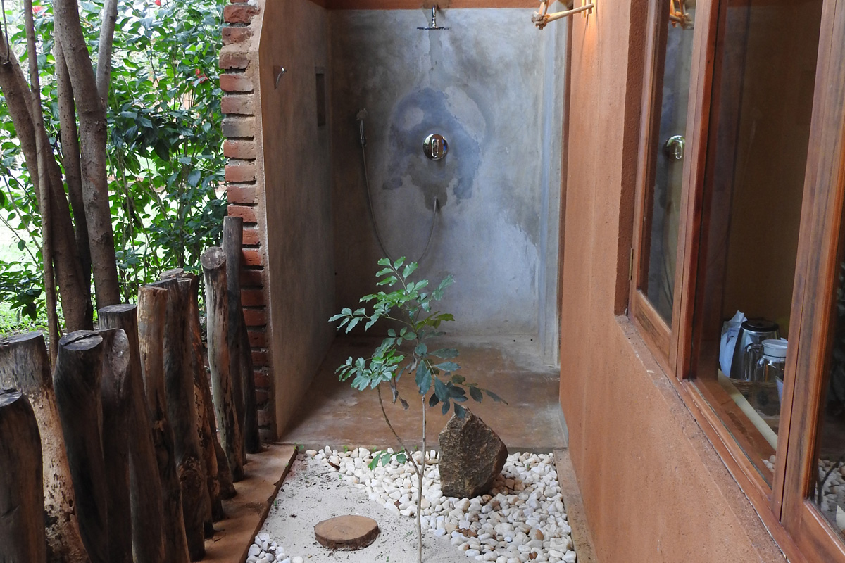 traditional room outdoor shower